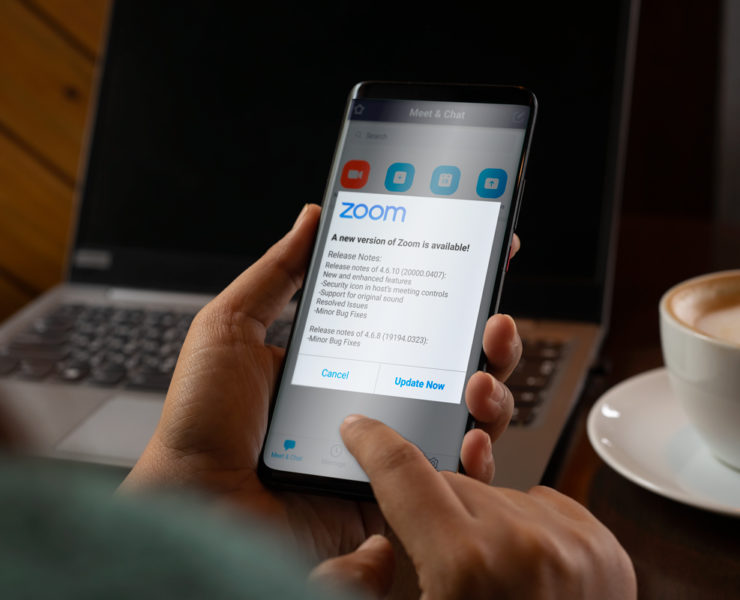 update your zoom account