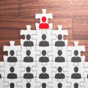 Successful leader and corporate hierarchy.